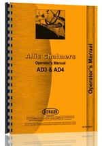 Operators Manual for Allis Chalmers AD4 Motor Grader