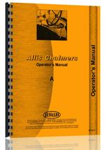 Operators Manual for Allis Chalmers A Tractor