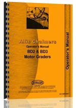 Operators Manual for Allis Chalmers BD3 Motor Grader