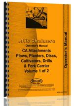 Operators Manual for Allis Chalmers CA Tractor Attachments