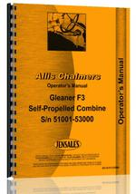 Operators Manual for Allis Chalmers F3 Combine