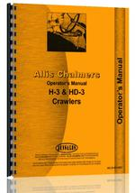 Operators Manual for Allis Chalmers H3 Crawler