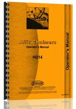 Operators Manual for Allis Chalmers HD14 Crawler
