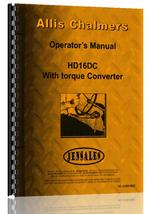 Operators Manual for Allis Chalmers HD16DC Crawler