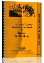 Operators & Parts Manual for Allis Chalmers B Lawn & Garden Tractor