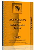 Parts Manual for Allis Chalmers 100 Combine