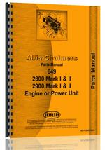 Parts Manual for Allis Chalmers 2800 Engine