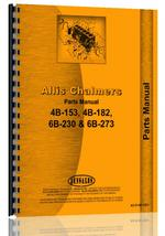 Parts Manual for Allis Chalmers 6B-273 Engine