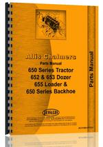 Parts Manual for Allis Chalmers 650 Crawler