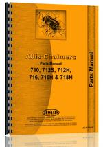 Parts Manual for Allis Chalmers 718H Lawn & Garden Tractor