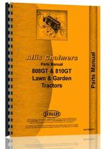 Parts Manual for Allis Chalmers 808 Lawn & Garden Tractor