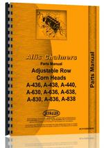 Parts Manual for Allis Chalmers C Series Corn Head