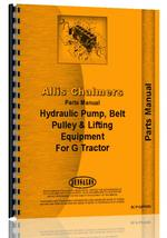 Parts Manual for Allis Chalmers G Hydraulics