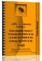 Parts Manual for Allis Chalmers F2 Head