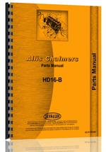 Parts Manual for Allis Chalmers HD16B Crawler