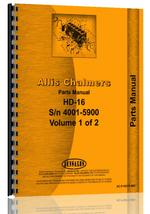 Parts Manual for Allis Chalmers HD16D Crawler