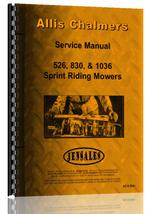 Service Manual for Allis Chalmers 830 Lawn & Garden Tractor