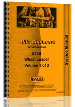 Service Manual for Allis Chalmers 645B Wheel Loader