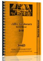 Service Manual for Allis Chalmers D19 Tractor