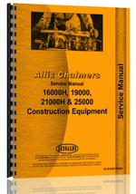 Service Manual for Allis Chalmers 16000H Engine