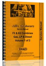 Service Manual for Allis Chalmers F2 Combine