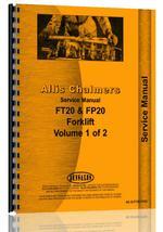 Service Manual for Allis Chalmers F 60 Forklift