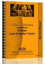 Service Manual for Allis Chalmers B-208E Lawn & Garden Tractor