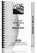 Operators Manual for Adams 512 Grader