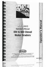 Operators Manual for Adams 550 Grader