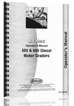 Operators Manual for Adams 660 Grader