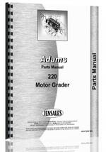 Parts Manual for Adams 220 Grader