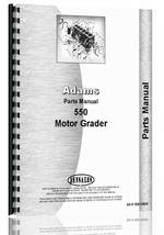 Parts Manual for Adams 550 Grader