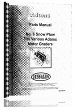 Parts Manual for Adams 8 Snow Plow Attachment