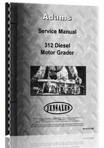 Service Manual for Adams 312 Grader