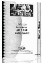Service Manual for Adams 550 Grader