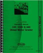 Operators Manual for Adams 330H Grader