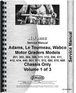Service Manual for Adams 412 Grader