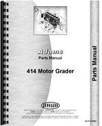 Parts Manual for Adams 414 Grader
