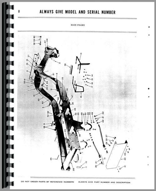 Parts Manual for Adams 414 Grader Sample Page From Manual