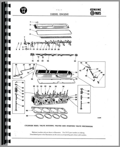 Parts Manual for Adams 512 Grader Engine Sample Page From Manual