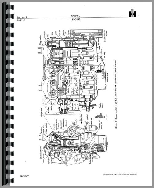 Service Manual for Adams 610 Grader Engine Sample Page From Manual