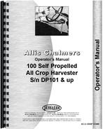 Operators Manual for Allis Chalmers 100 Combine