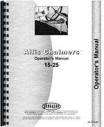 Operators Manual for Allis Chalmers 15-25 Tractor