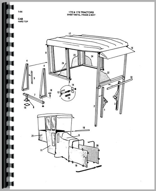 Parts Manual for Allis Chalmers 170 Tractor Sample Page From Manual