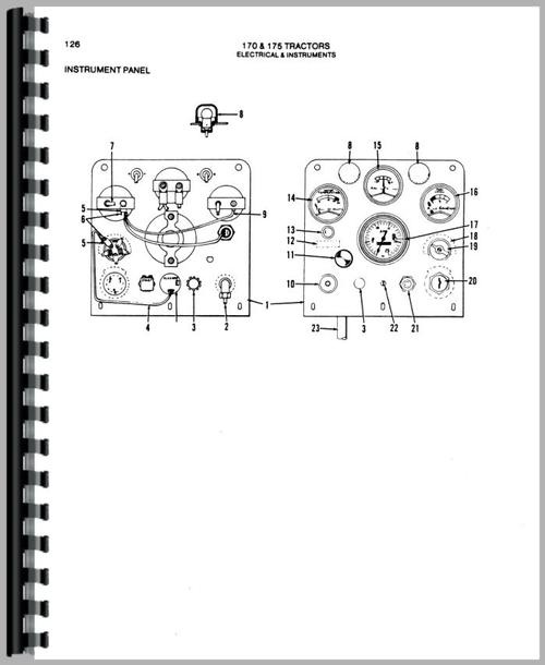Parts Manual for Allis Chalmers 175 Tractor Sample Page From Manual
