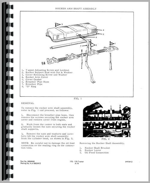 Service Manual for Allis Chalmers 175 Tractor Sample Page From Manual