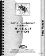 Parts Manual for Allis Chalmers 18-30 Tractor