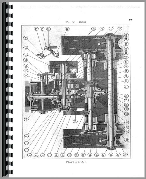 Parts Manual for Allis Chalmers 18-30 Tractor Sample Page From Manual