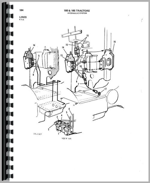 Parts Manual for Allis Chalmers 180 Tractor Sample Page From Manual