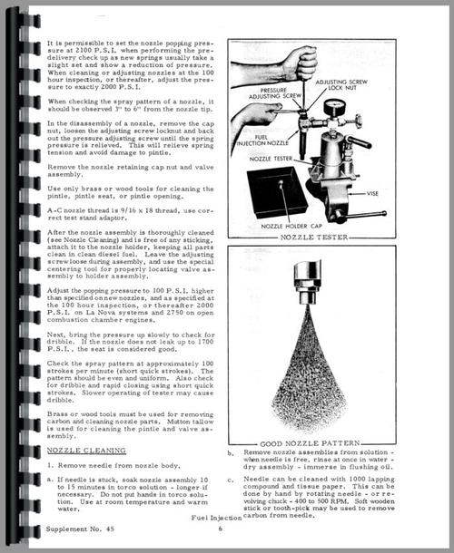Service Manual for Allis Chalmers 190 Injection Pump Sample Page From Manual